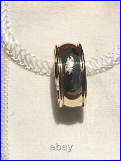 James Avery 14k Gold Mens Wedding Band 8.5mm wide Ring Size 8