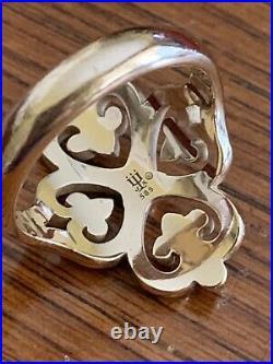 James Avery 14k Gold Retired Adorned Heart Ring Sz 9