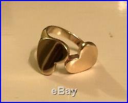 James Avery 14k Gold Retired Double Heart Ring HTF