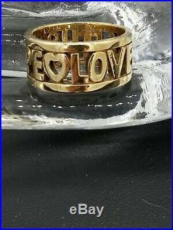 James Avery 14k Gold Ring Faith Hope Love Size 7