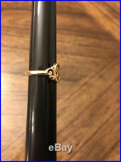 James Avery 14k Gold Spanish Swirl Ring Size 6 Retails For $330