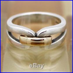 James Avery 14k Gold & Sterling Silver Enduring Bond Ring Size 8.5, 7.9G RET$155