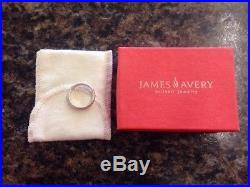 James Avery 14k Gold Sterling Silver Twist Band Ring Size 7 Retired