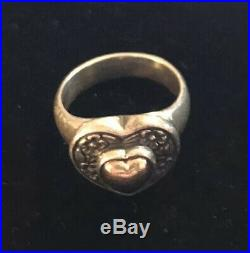 James Avery 14k Gold & Sterling Sterling Heart Of Gold Ring Retired Size 7.25