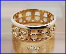James Avery 14k Gold Teddy Bear Eternity Band Ring Size 7.5, 5.1 Grams RETIRED