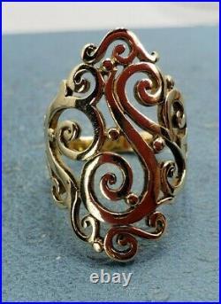 James Avery 14k Long Sorrento Ring Size 9.5