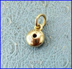 James Avery 14k Remembrance Pendant Lab Sapphire Uncut jump Ring MintCondition