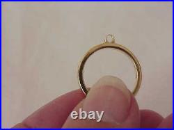 James Avery 14k Solid Gold 2.5 MM Charm Gold Ring Sz 4