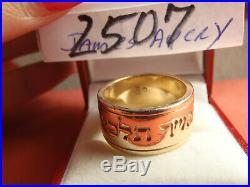 James Avery 14k Solid Yellow Gold Scripture of Ruth Band Ring 15.2G RETIRED 8.75