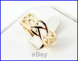 James Avery 14k Woven Band 8mm Ring 6.9 Grams Size 7 1/2 MINT