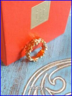 James Avery 14k Yellow GOLD Margarita Daisy Flower Band Ring size 4 Retired