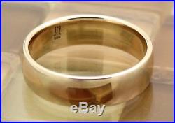James Avery 14k Yellow Gold Athena Wedding Band Wide Ring Size 11, 8.6G RET$530