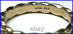 James Avery 14k Yellow Gold Braided Eternity Ring Unisex Band 3.5mm Size 10