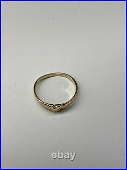 James Avery 14k Yellow Gold Cherished Heart Ring Size 3.5 Pinky / Childs RETIRED