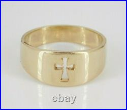 James Avery 14k Yellow Gold Cut Out Cross Ring Size 7