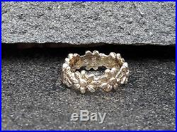 James Avery 14k Yellow Gold Flower Ring Size 4 Retired