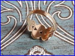 James Avery 14k Yellow Gold Mycenaean Swirl Ring Size 6 Retired