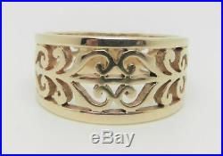 James Avery 14k Yellow Gold Open Adorned Ring Size 6.25 Lb2856