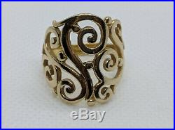 James Avery 14k Yellow Gold Open Sorrento Swirl Ring Size 8 FREE SHIPPING