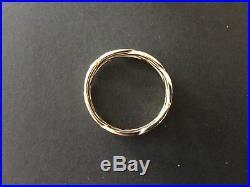 James Avery 14k Yellow Gold Tresse Wedding Band Ring Size 9.5