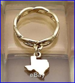 James Avery 14k Yellow Gold Twisted Wire Texas Charm Ring Size 3 5 3g Retired James Avery Ring