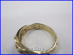 James Avery 14k gold Heart flowers filigree band Ring Size 7