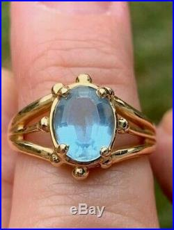 James Avery 14k yellow gold Blue Topaz Ring. Sz 6.25 Beautiful and comfortable