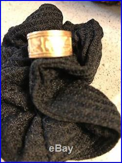 James Avery 14kt Gold SONG OF SOLOMON Hebrew Writing Ring Size 7