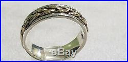 James Avery 14kt Yellow Gold &. 925 Sterling Braided Band Ring Size 9. RETIRED