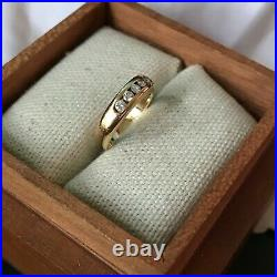 James Avery 18K Gold & Diamond Debra Ring, 5/32 wide. 15 TDW, Size 3