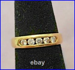 James Avery 18K Yellow Gold 750 & Diamond DEBRA Band Ring Size 5