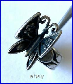James Avery 3D Mariposa Butterfly Sterling Silver 925 Ladies Ring Size 8.5