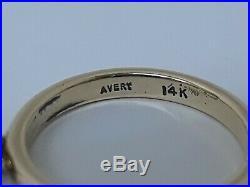 James Avery 3.9 Grams Retired 14k Cat Dangle Ring Size 3.75