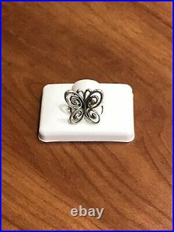 James Avery Abounding Spring Butterfly Ring. Retired. Preowned. 925 Size 8