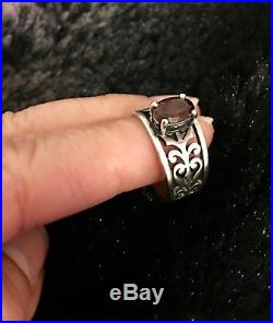 James Avery Adoree Ring Garnet approximate size 6