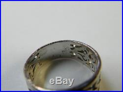 James Avery Adoree Sterling Silver 925 Ring Size 6 Blue Topaz