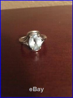 James Avery Adriana Ring Blue Topaz Sz 5.5