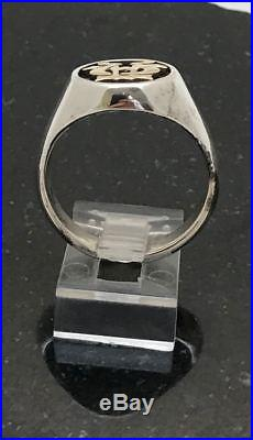 James Avery Alpha & Omega Ring Sz 7 14K Yellow Gold Sterling Silver. 585.925