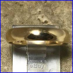 James Avery Athena Wedding Band Narrow Ring WB-46 Sz 6 1/2 14K Yellow Gold. 585