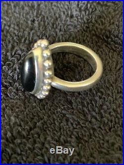 James Avery Beaded Marquise Onyx Ring Size 6