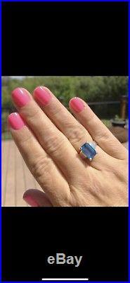 James Avery Bella Blue Topaz Ring- 6