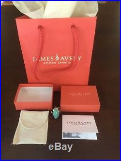 James Avery CLASSIC OVAL TURQUOISE Ring Size 7 New with bag and box $220 List