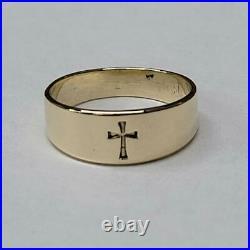 James Avery Child's Gold Cross Ring 14K Yellow Gold 1dwt (PPJ017773)