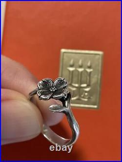 James Avery Dogwood Flower Sterling Silver Ring Retired Rare