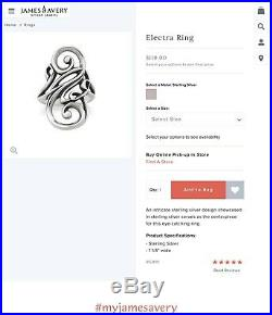 James Avery Electra Ring Size 7