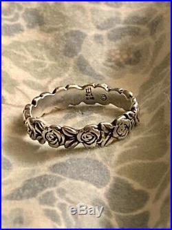 James Avery Eternity Eternal Rose Ring, Sterling Retired