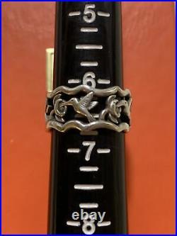 James Avery Hummingbird Flower Eternity Sterling Silver Ring Band Retired Rare