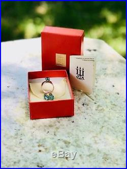 James Avery Julietta Topaz Ring Sterling Silver 14K Gold Free Matching Earrings