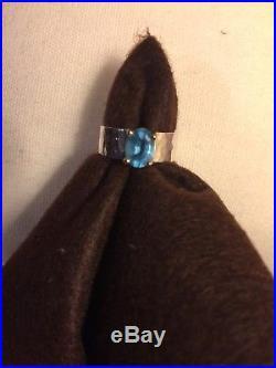 James Avery Juliette Blue Topaz Size 6 Ring
