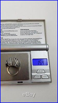 James Avery Large ARMADILLO Dome STERLING SILVER Ring Sz 6.5 PX3765